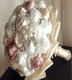 PEARLIE ~Satin Rose Brooch Bouquet or DIY KIT