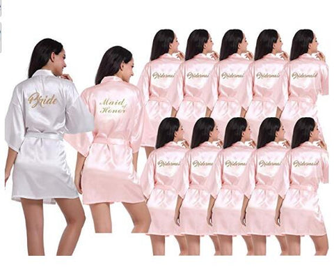 Bridesmaids Satin Robes Wedding Party Gifts