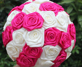 Satin Rose  No Brooch Bouquet EMR-MEG