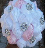 PRINCESS~EMR Satin Rose Brooch Bouquet or DIY KIT