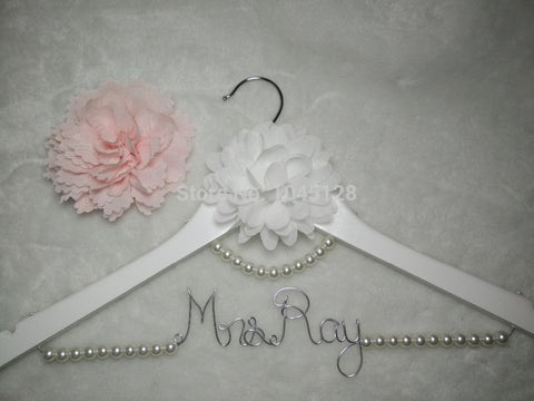 Personalized Wedding Hanger Bridal Bridesmaids Hanger Wedding Party Gift
