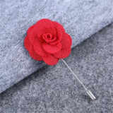 Camellia Flower Lapel Pin Brooch Handmade Flower Brooch Pin Wedding Boutonniere BOUT-997