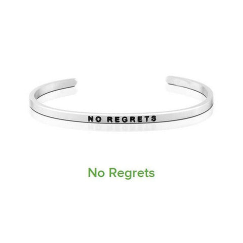 4mm Inspirational Bracelet Stainless Steel Bangle