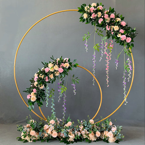 Iron Circle Wedding Arch Props Background Single Arch