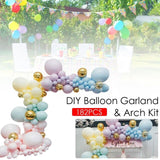 182Pcs DIY Balloons Garland Macaron Candy Colored Latex Balloons Arch Party Supplies Wedding Birthday Valentine's Day Balloons