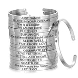4mm Inspirational Bracelet Stainless Steel Cuff Jewelry