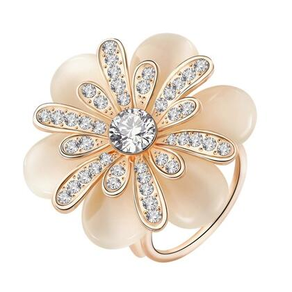 Camellia Opal Flower  Brooch Chic Women Lady Scarf  Clip Buckle