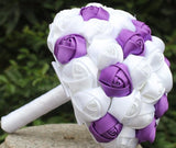 10pcs Satin Rose Brooch Bouquet PACK- 096