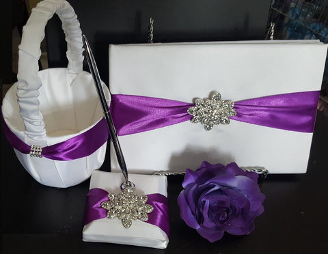 Customized Brooch Flowergirl Basket Pillow Set CBP- 001