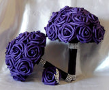 Real Touch Rose Brooch Bouquet BCUST-213