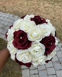 RERE ~ Silk & Real Touch Roses Brooch Bouquet or DIY KIT
