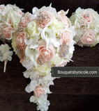 Customize Your Package Silk Roses Brooch Bouquet PACK- BLUSH