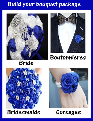 PACK03~ Build Your Bouquet Package Satin Roses Bouquet