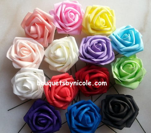 RIHANNA~Silk & Real Touch Roses Brooch Bouquet or DIY KIT ...