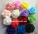 LALA ~ Cascading Real Touch Roses Brooch Bouquet or DIY KIT