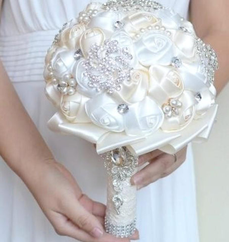 SEDA ~ Satin Roses Brooch Bouquet or DIY KIT