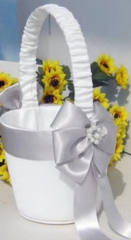 Customized Brooch Wedding Flower Girl Basket Pillow Guest Book Pen CBP- 003