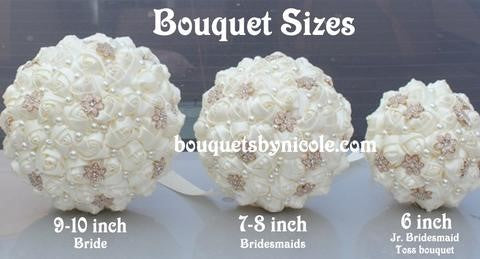 DIY Satin Rose Brooch Bouquet KIT-CHRISSY – Bouquets by Nicole ab857d9f9b14