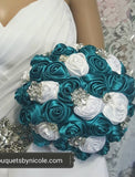 STACI~EMR Satin Rose Brooch Bouquet or DIY KIT