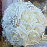 MALIRA~EMR- Real Touch Roses Brooch Bouquet or DIY KIT