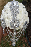 ADAH ~ Satin Roses Brooch Bouquet