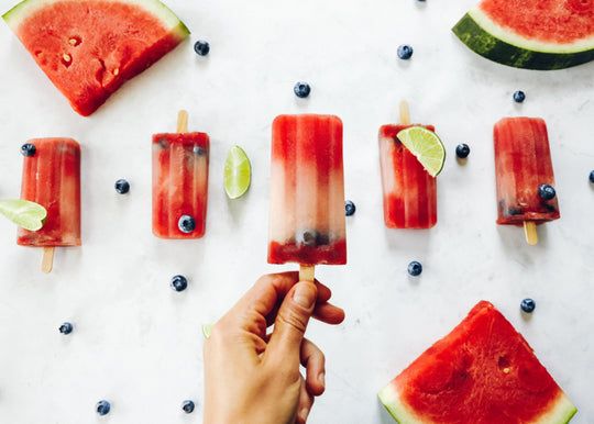 Watermelon Berry-Lime POPSICLES