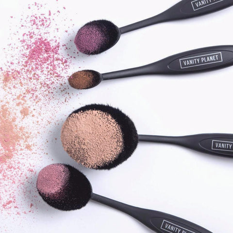 Oval Vegan Cruelty Free Makeup Brushes