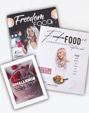 Load image into Gallery viewer, Printed Book Package | Freedom Food 1.0 + 2.0 + FREE smoothie ebook!