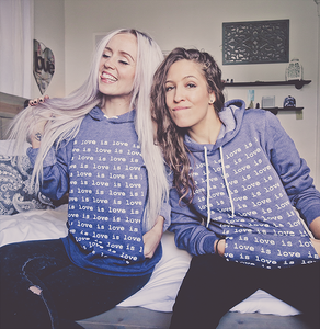 Blue Love is Love Hoodie