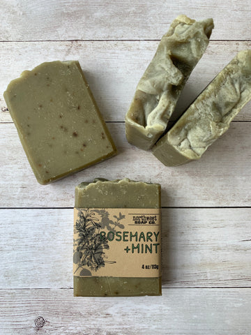Rosemary and Mint Goat Milk Soap Bar