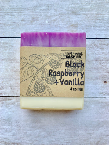 Black Raspberry Vanilla Bar Soap