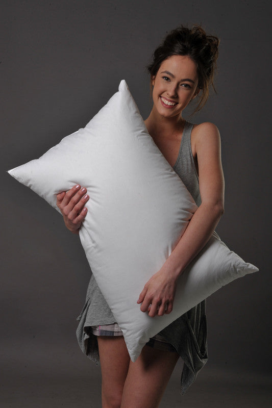 Standard Size Pillow 90% White European Duck Down/10% White European Duck Feather