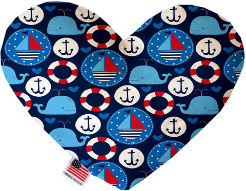 Anchors Away 6 inch Heart Dog Toy