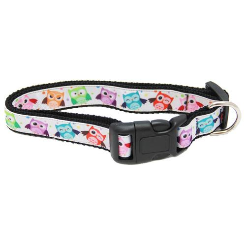 Bright Owls Dog Collar