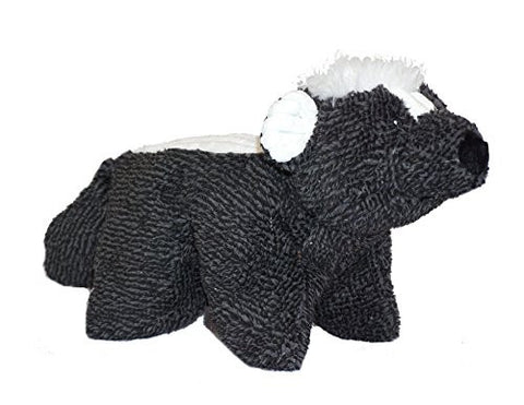 Hugglehounds Plush Durable Knot-Less Squooshies, Skunky