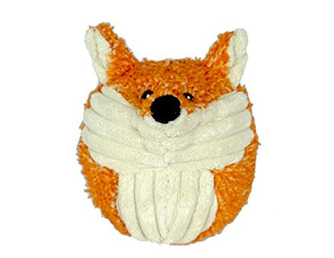 Hugglehounds Plush Durable Squooshie Balls, Foxy