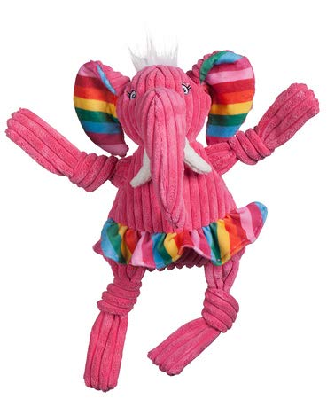 Hugglehounds Rainbow Elephant Knottie, Large