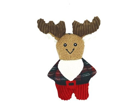 HuggleHounds Plush Corduroy Cookie Dog Toy, Moose
