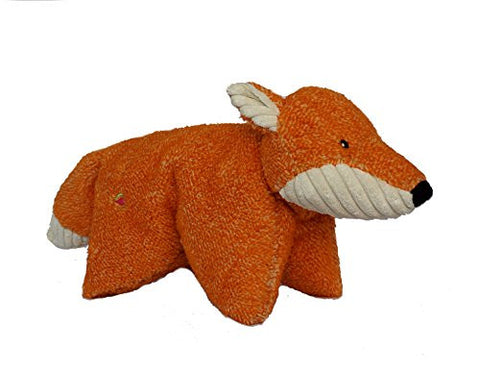 HuggleHounds Plush Durable Knot-Less Squooshies, Fox