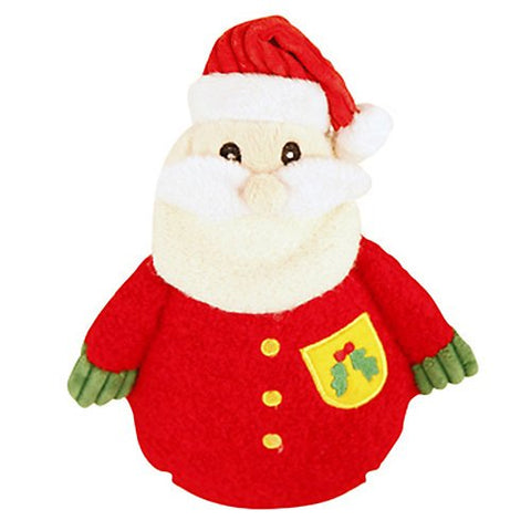 Hugglehounds Holiday Cookie Santa Dog Toy