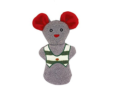 HuggleHounds Plush Corduroy Durable Cookie, Mouse