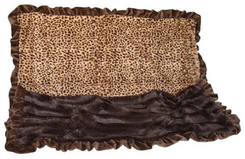 Brown Cheetah 1/2 Size ÿPet Blanket