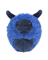 Plush Durable Knot-less Barnyard Squooshie Balls, Lamb