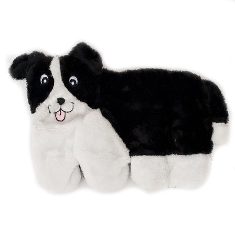 Border Collie Squeakie Pup 11-Squeaker No Stuffing Plush Dog Toy