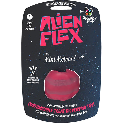 "Spunky Pup Alien Flex ""The Mini Meteor"" Treat Dispensing Toy"