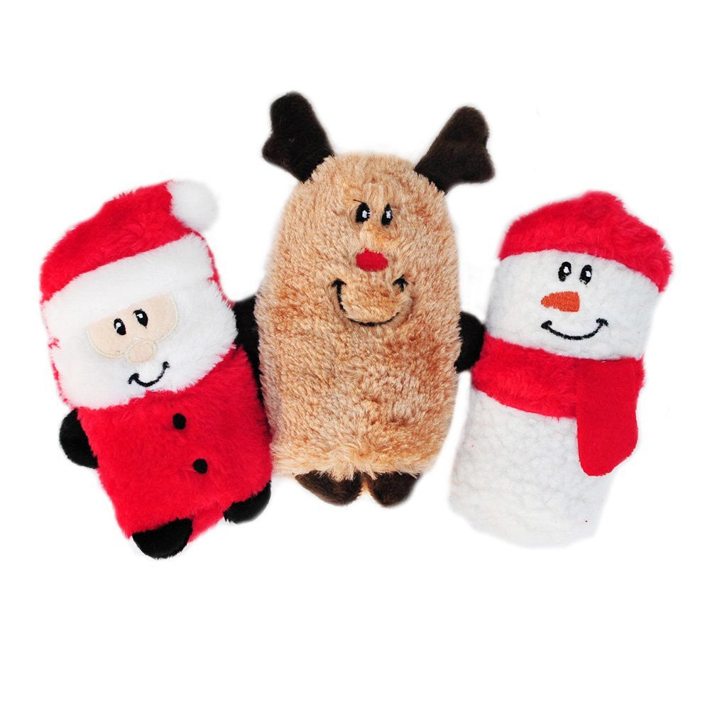 Zippy Paws Holiday Squeakie Buddy Pack - 3 Pack - Dog toys