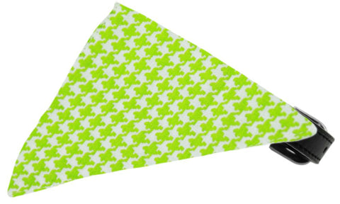 Lime Houndstooth Bandana Pet Collar Black Size 20