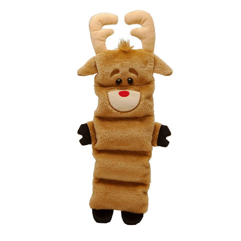 Outward Hound Christmas Reindeer Stuffless Durable Squeak Dog Toy