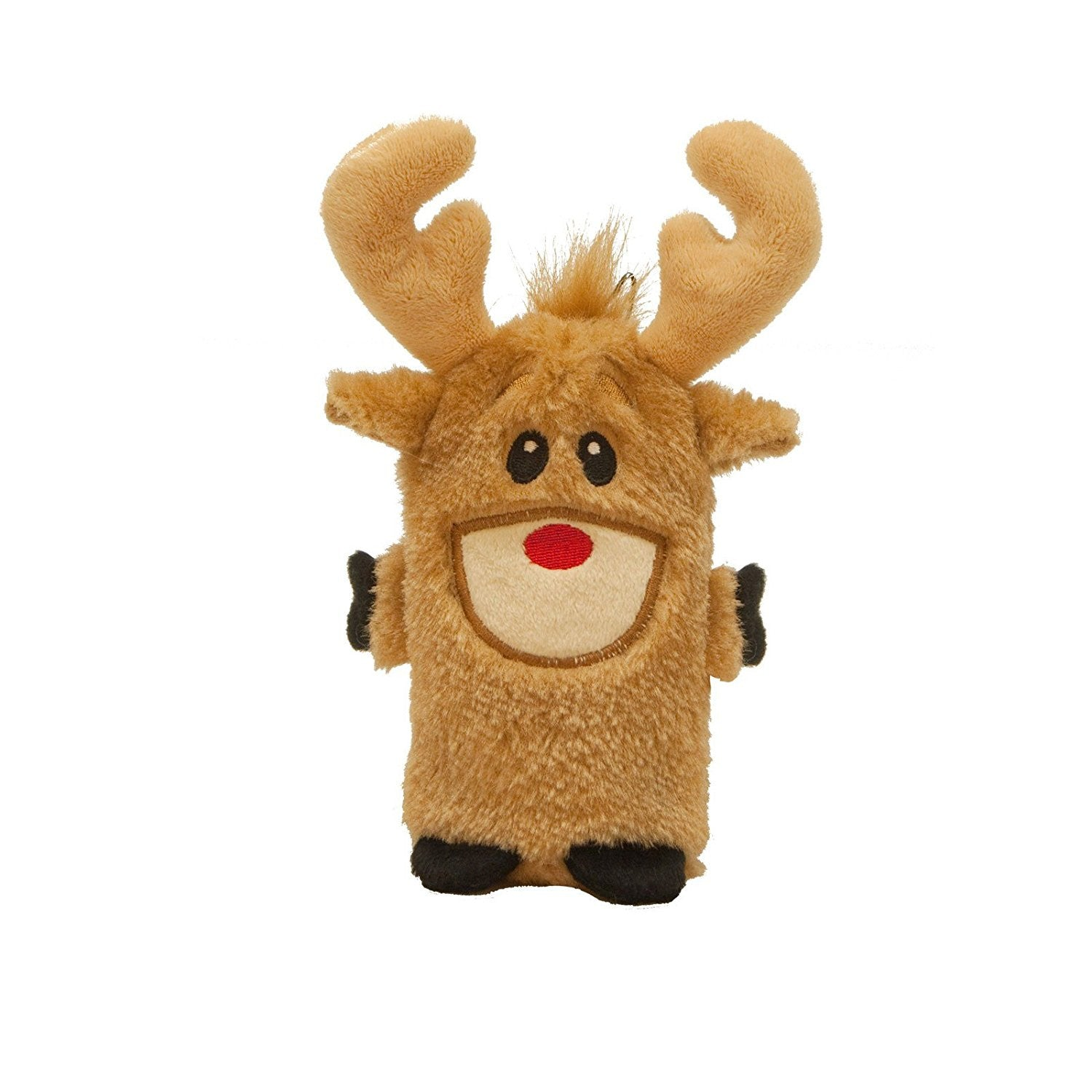 Stuffless Christmas Reindeer Durable Squeak Dog Toy - Dog toys