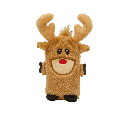 Stuffless Christmas Reindeer Durable Squeak Dog Toy